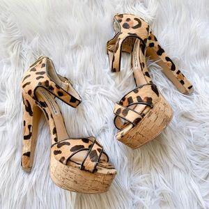 Steve Madden Shoes - 👠BOGO🆓 Steve Madden Gorjuss Leopard Hair Heels